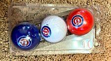 New listing Chicago Cubs Golf Balls Lot Set of 3 Red White Blue Baseball