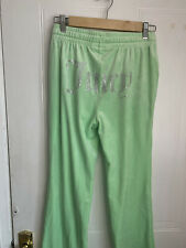 Juicy couture tracksuit bottoms Size XS Green Flared Joggers New - See Images