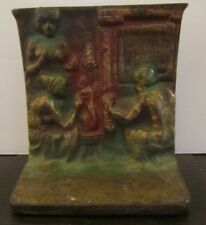 Vintage Cast Iron Metal Nude Figural Relief Book End collectible home decor
