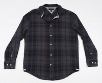 Tommy Hilfiger Grey & Blue checked Mens Casual Shirt, long sleeved Size XL