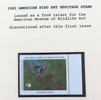 .SCARCE ! USA AMERICAN STAMP. 1982 MINT SUPERB $5 FUND RAISER, DISCONTINUED.