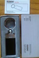 ZIPPO SPLIT RING KEY CHAIN MODEL 40046 BLACK MATTE NEW IN BOX