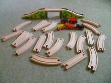 WOODEN TRAIN SET BUNDLE BRIDGE,TRAINS, TRACK, ELC, IKEA,BIGJIGS ETC