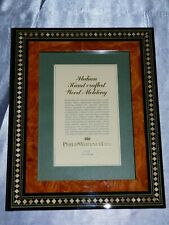 "PHOTO FRAME 7"" X5"" ITALIAN HAND CRAFTED PHILIP WHITNEY ART DECO STYLE WOOD"