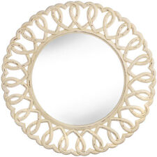 Wooden Wall-Mounted Round Decorative Mirrors