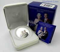 2007 DIAMOND WEDDING ANNIVERSARY Silver Proof Coin