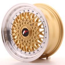 "Un Cerchio in Lega Japan Racing JR9 15"" x 7"" ET 20 4 x 100 / 108 Oro - argento"
