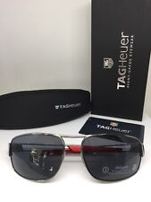 New Tag Heuer Sunglasses Sport TH 0201 C. 102 Ruthenium Aviator Sunglasses 63mm