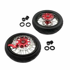 3.5*17/4.25*17 HONDA CRF250R CRF450R 02-12 TIRE 150 SUPERMOTO WHEEL RIM SETS