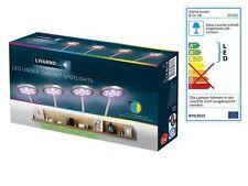 LED-Unterbauspots Unterbauleuchte Farbwechsler 4 Spots mit je 9 RGB LED Leuchte