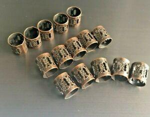 Adjustable copper dreadlock beads, dread cuff wrap beard rings 7.5mm.