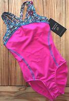 ALPHA FACTOR Gymnastics LEOTARD Olympian SHANNON MILLER Pink AF Sz: ALA (large)