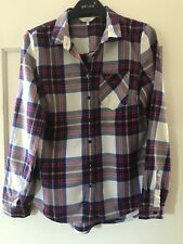 Ladies Next Check Shirt, Size 10, Blue/White/Red, Long Sleeve