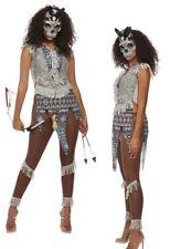 Native Indian Dark Spirit Zulu Warrior Ladies Fancy Dress Costume Halloween