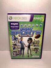 Kinect Sports: Season Two 2 (Microsoft Xbox 360) Complete CIB w/ Manual