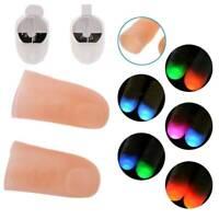 "2* Magic Luminous Finger Cover Thumb Light Up Glow Trick Toys Prank ""Catch"" Game"