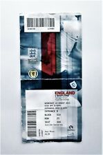 ENGLAND V SCOTLAND Scottish Football Memorabilia Tickets Stub(s) 14/08/13