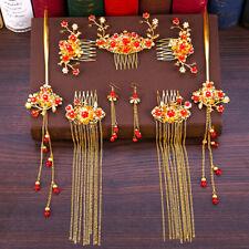 Xiuhe Headdress Chinese Retro Bride Wedding Phoenix Crown Hair Accessories Set