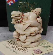 Harmony Kingdom Pod Squad Beluga Whales Uk Made Marble Resin Box Figurine