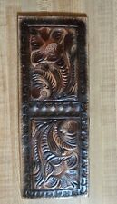 Genuine Leather Mens Bifold Wallet, Handcrafted,  Beautiful Detail! Hand Tooled!