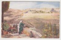 Israel postcard - Jerusalem - From the Mount of Olives - Oilette - P/U (A12)