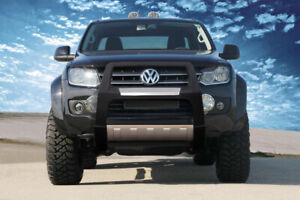 VW AMAROK POLYURETHANE STAINLESS STEEL CHROME NUDGE A-BAR BULL BAR 2017 ONWARDS