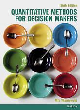 Quantitative Methods for Decision Makers,PB,Mik Wisniewski - NEW