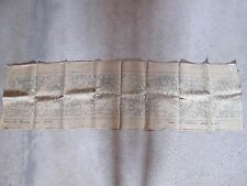 Toile à broder ancienne en lin - début 20ème - 40cm x 150cm