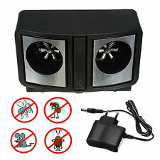 Dual Sonic Ultrasonic Pest Repeller Rat Mice Mosquito Insect Control Repellent&%