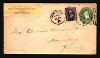 US 1895 Uprated Stationery Cover to Germany - Z19198