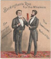 Victorian Buckingham's Dye for Whiskers for Men Victorian Trade Card