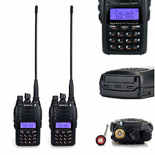 2* Retevis RT23 Walkie Talkie Cross-Band Repeater UHF/VHF 2Way Radio Dual PTT 5W