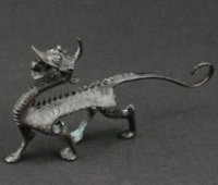 Rare collectible old Decorated Handwork Bronze Carving Dragon Wondderful statue