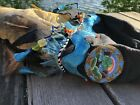 Native Fish Fishing Hunt Bag Seed Bead Arrowhead Spear Handmade Alaska Decor Art
