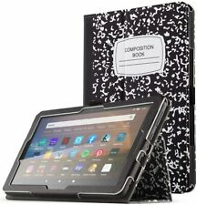 Amazon Fire HD 8 / HD 8+ Tablet Case,Flip Leather Stand Cover (Composition Book)