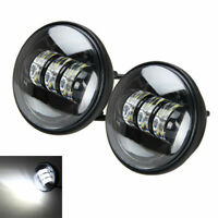 "1 Pair 4-1/2"" Motorcycle LED Auxiliary Spot Fog Light Passing Lamp Headlight"
