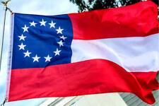 "First National 13 Southern States Csa 3"" x 5"" Civil War flag"