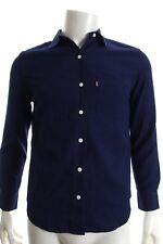 BNWT LEVI'S 26677 BOYFRIEND FIT WOMEN'S JACQUARD DOT BLUE COTTON SHIRT RRP £70