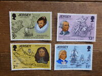 JERSEY 1976 200th ANNIV INDEPENDENCE OF USA SET 4 MINT STAMPS