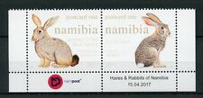 Namibia 2017 MNH Hares & Rabbits 2v Set Wild Animals Stamps