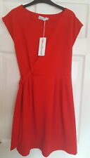Ladies Red Flare Casual Spring Dress, Tie Size UK M Sabrina Diamanti, BNWT