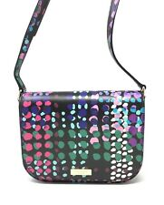 Kate Spade Laurel Way Large Carsen Dotty Plaid Black Crossbody Bag WKRU4694 $229