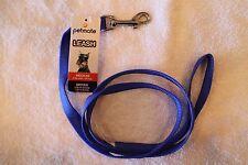 "ASPEN PETMATE Medium DOG LEASH - Sturdy Nylon (Blue) 5/8"" x 4' long"