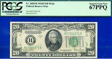FR-2058-B 1934-D $20 FRN (( Grade Rarity )) PCGS Superb-Gem 67PPQ # B57950271A