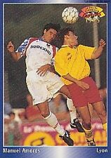 N°086 MANUEL AMOROS LYON LYONNAIS CARTE PANINI FOOTBALL 95 FRANCE CARDS 1995