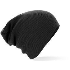 adulti uomo donna caldo morbido al tatto MAGLIA ACRILICO Slouch berretto