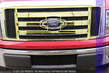 GTG 2009 - 2012 Ford F150 8PC Gloss Black Upper Overlay Billet Grille Grill Kit