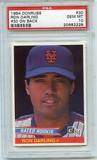 1984 DONRUSS RON DARLING #30 ON BACK PSA 10 GEM MINT TOUGH LOW POP