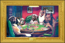 Dogs Playing Poker Poster Iconic Comical C.M. Coolidge Cigar advertisement New!