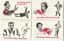 United Telecom 1998 Football People - Shearer, Beckham, Fowler, Seaman, 4 cards